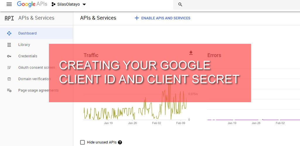 Creating your Google Client ID and Client Secret
