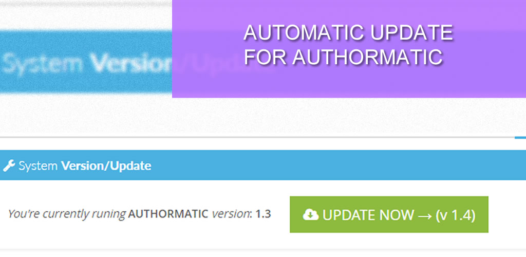 Automatic Update for AuthorMATIC